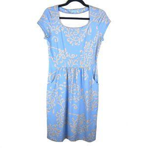 J. McLaughlin Blue Catalina Cloth Pockets Dress S